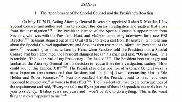 Bericht von Sonderermittler Robert Mueller, Seite 290