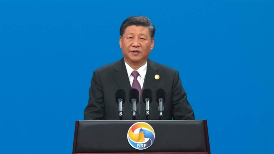 """Großprojekt: Chinas Xi wirbt für umstrittene """"Neue Seidenstraße"""""""