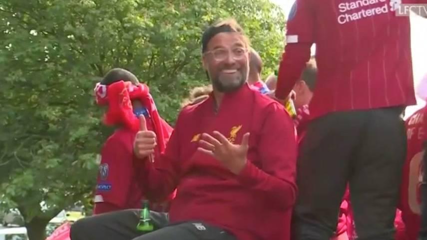 Jürgen Klopp lässt sich in Liverpool feiern