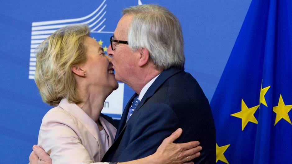 Ursula von der Leyen und der noch amtierende EU-Kommissionschef Jean-Claude Juncker