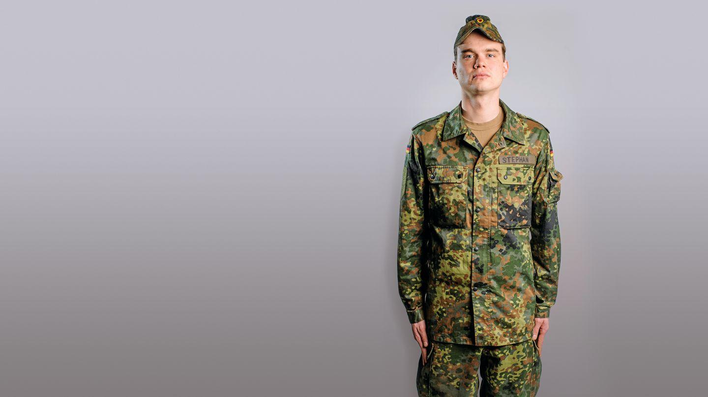 Reporter Björn Stephan als Bundeswehrrekrut