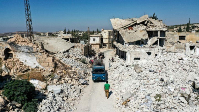 Die Stadt Ihsim in der syrischen Provinz Idlib