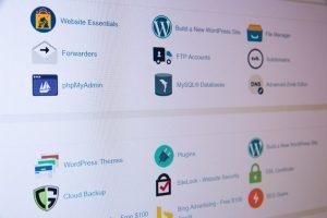 Webhosting-Kontrollfeld