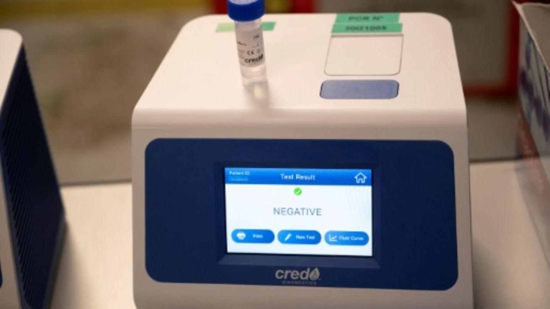 Anzeige des Ergebnisses eines Corona-PCR-Tests
