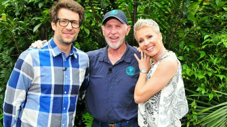 """Daniel Hartwich (l.), Dr. Bob und Sonja Zietlow dürfen in """"Ich bin ein Star - Die große Dschungelshow"""" nicht fehlen."""