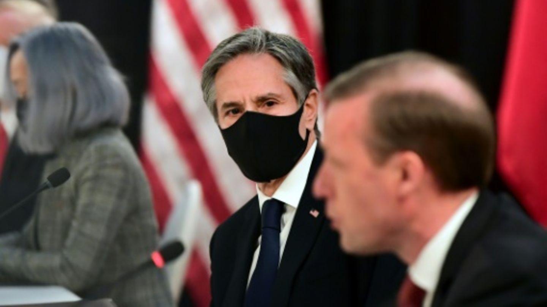 Blinken (M.) und der Nationale Sicherheitsberater der USA, Jake Sullivan