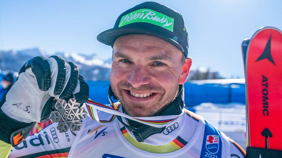 Dritter Erfolg für den DSV inCortina d'Ampezzo: Andreas Sander gewinnt die Silbermedaille in der Abfahrt