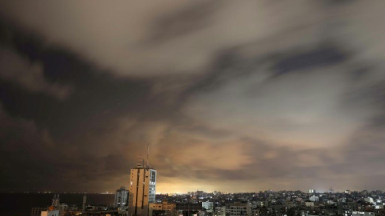 Panorama von Gaza-Stadt kurz vor Inkrafttreten der Feuerpause
