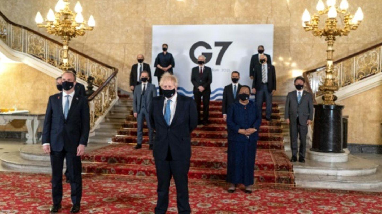 """G7-""""Familienfoto"""" mit Premierminister Johnson"""
