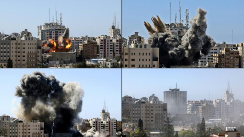 Angriff auf Gebäude mit Medienbüros in Gaza-Stadt