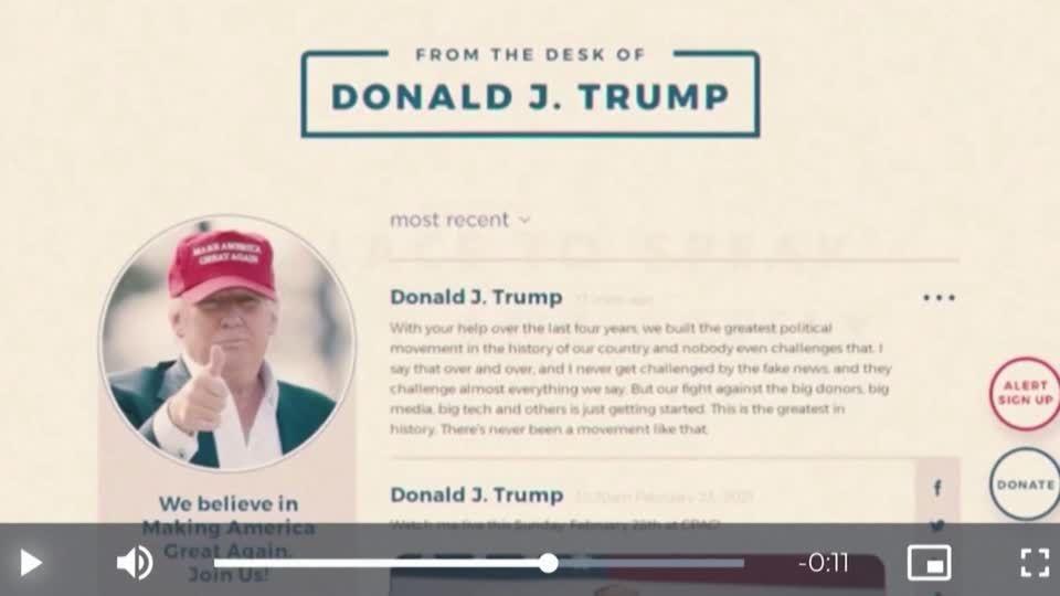 Bis Anfang 2023: Facebook sperrt Trump weiter aus – der beschwört seine Rückkehr ins Weiße Haus