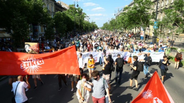 Protest gegen Bau eines chinesischen Campus in Budapest