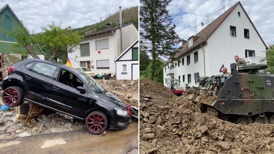 Hochwasser-Lage bleibt weiter angespannt – Merkel sagt Hilfen zu