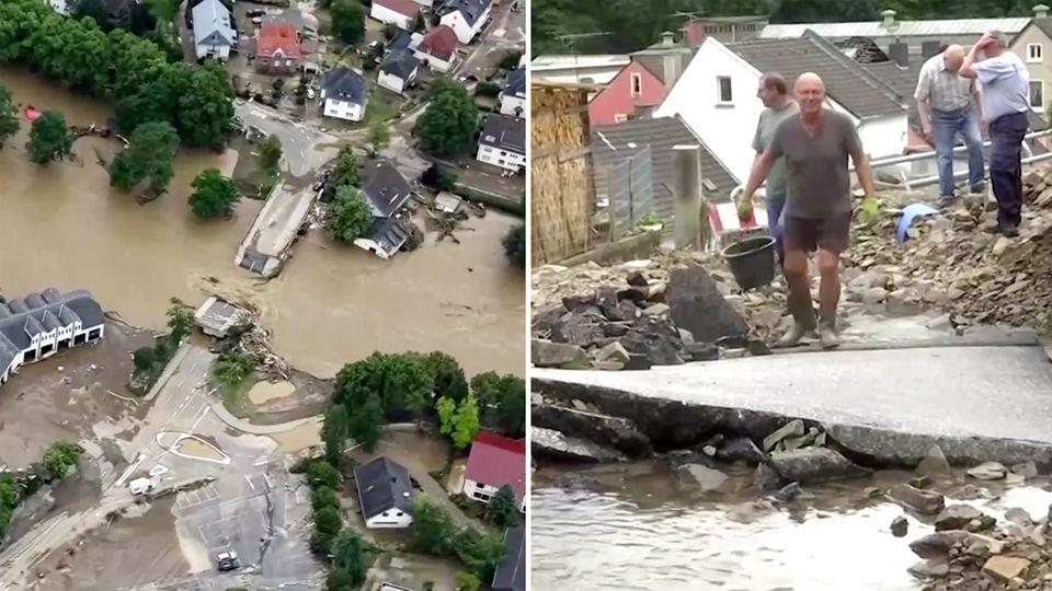 """Tief """"Bernd"""": Weitere Hochwasser-Tote in Rheinland-Pfalz entdeckt – Hunderte Häuser im Kreis Trier-Saarburg beschädigt"""