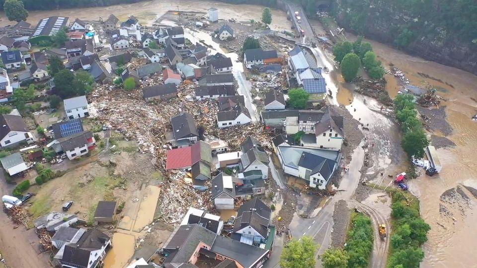 Ahrweiler: Luftaufnahmen zeigen Ausmaß der Hochwasser-Zerstörung